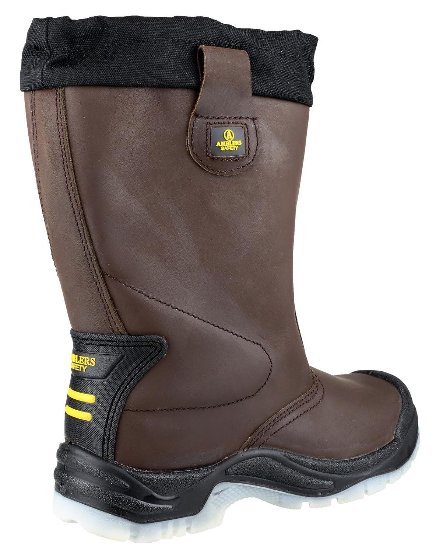 Amblers Safety  Leder Herren FS219 Pull on Leder  Safety Rigger Stiefel Braun schwarz 4d924d