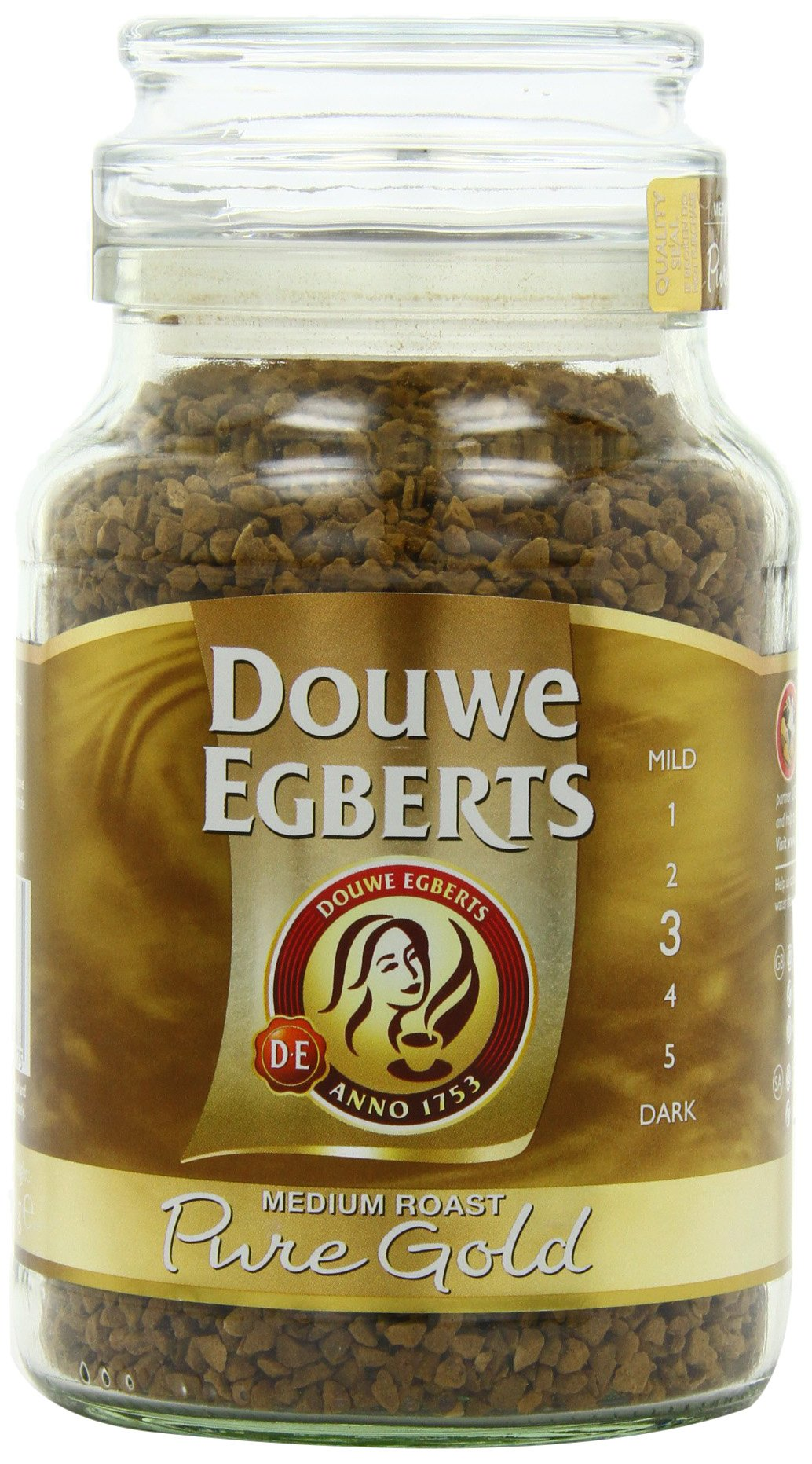 Douwe Egberts Pure Gold Instant Coffee, Medium Roast, 7.05-Ounce, 200g (Packaging May Vary) by Douwe Egberts