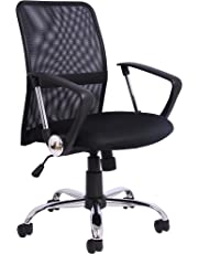 Office Essentials Mesh Height Adjustable Chair With Torsion Control - Black
