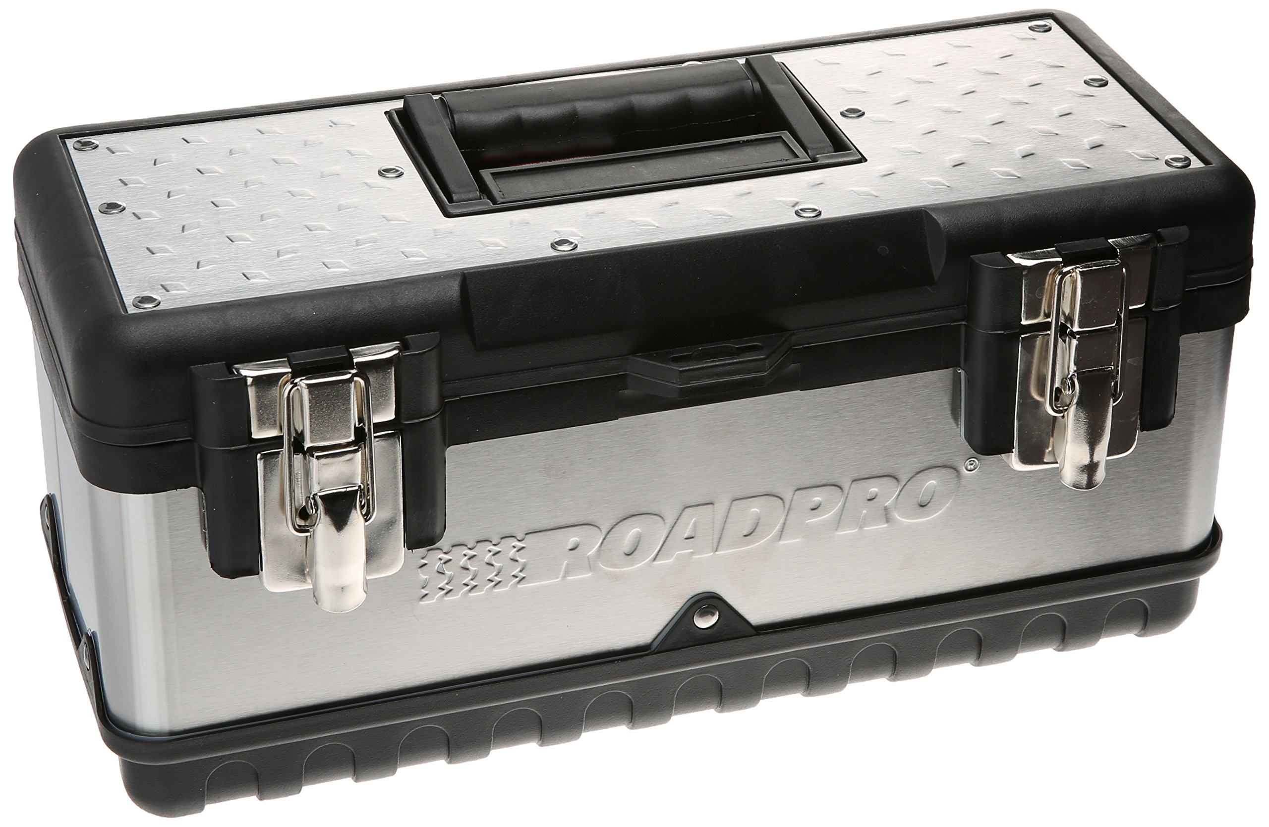 RoadPro SST00715 15'' Stainless Steel Tool Box with Removable Tray