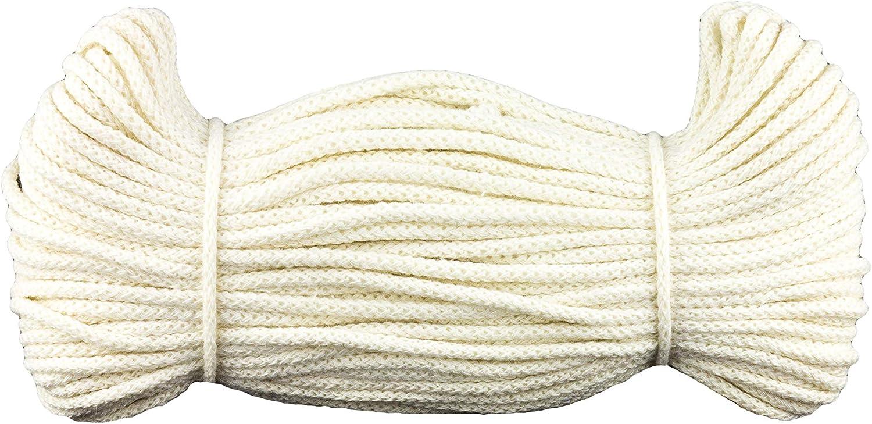 e-kurzwaren 3mm x 50m Cordon de Coton 5mm x 50m ou 5mm x 100m Cordon Coton D/écoration Floristique 26 Couleurs