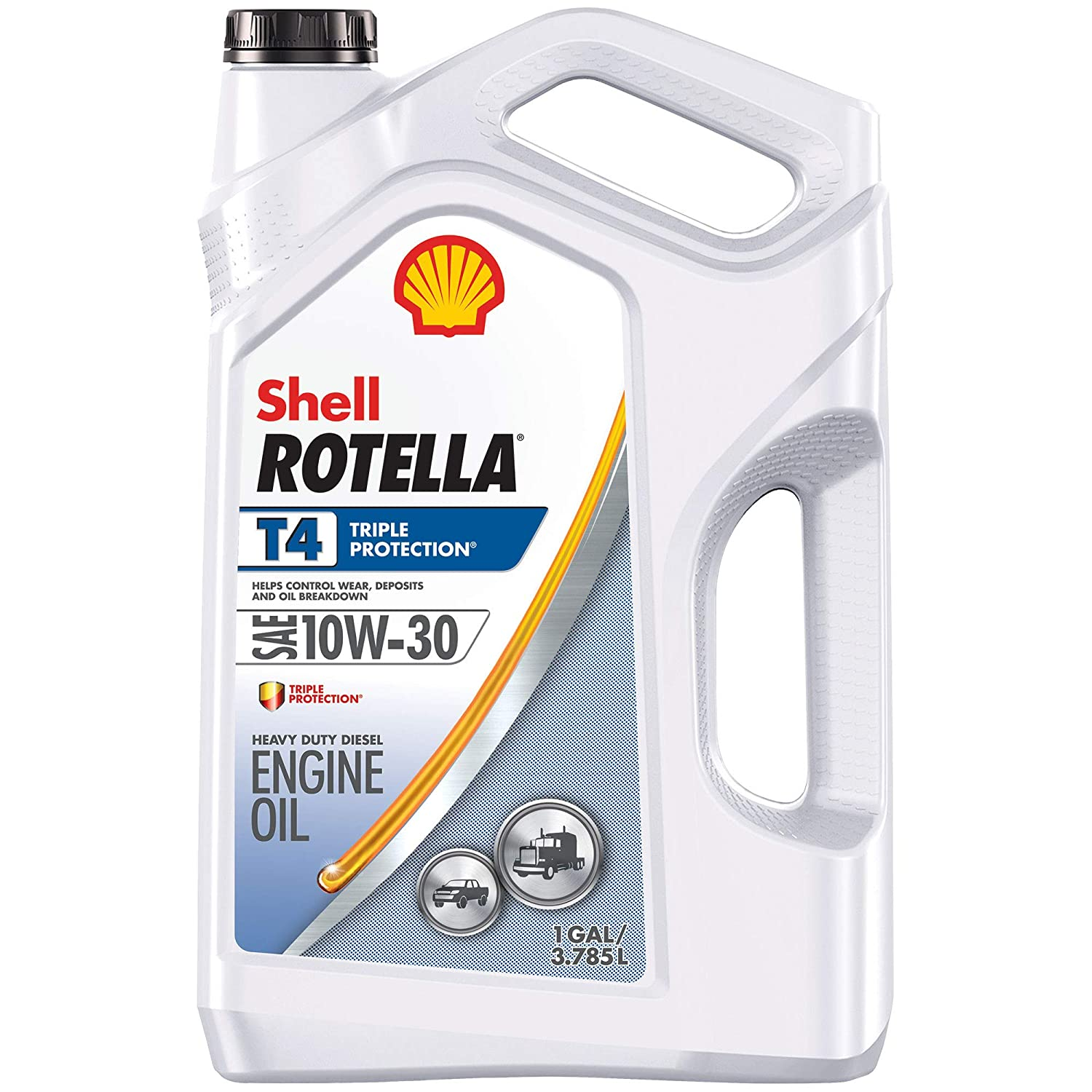 ROTELLA 550045144-3PK T4 Triple Protection Motor Diesel Oil (10W-30 CK-4), 3 Pack, 1 Gallon