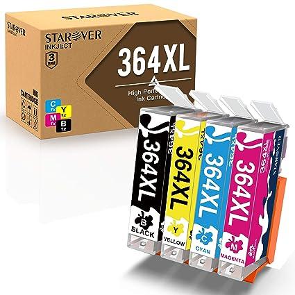 STAROVER 4x 364XL 364 XL Cartuchos De Tinta Compatible Para HP ...