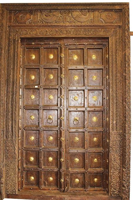 Amazon Com Elaborate Antique Indian Haveli Door Earthy