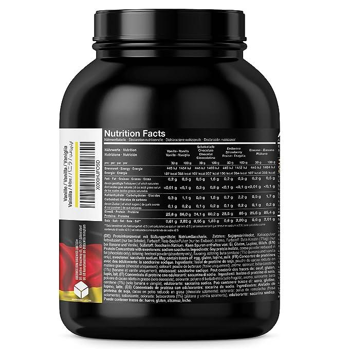 BBGENICS Deutschland - Soja Isolat, proteína en polvo, 1000g vainilla: Amazon.es: Salud y cuidado personal