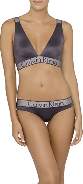 Calvin Klein Para Mujer Customized Stretch Unlined Bralette Sujetador - Gris -