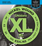 D'Addario ESXL165 Nickel Wound Bass Guitar Strings with Long Scale and Double Ball End, Medium, 50-105
