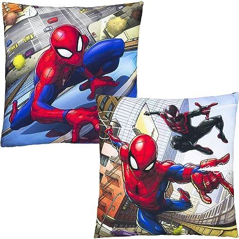 Marvel Cojín Cuadrado 35 cm Spiderman, Amarillo, Talla única ...