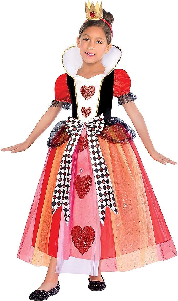 SUIT YOURSELF Disfraz de reina de corazones para niñas, mediano ...