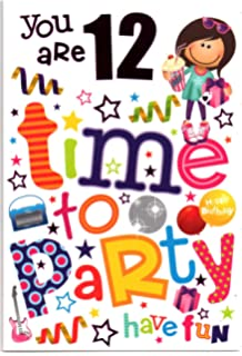 Birthday card ten 10 year old boy free 1st class post uk birthday card for twelve 12 year old girl free 1st class post bookmarktalkfo Images