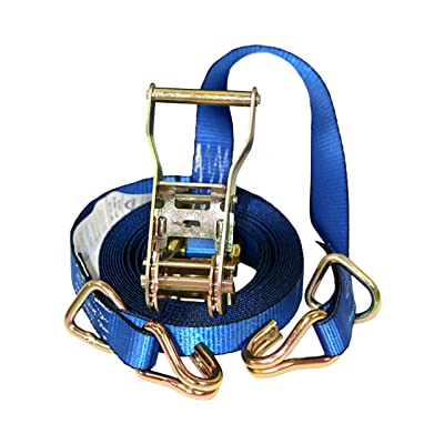 Everest Premium Ratchet Tie Down – 1 PK – 1 IN – 16 FT – 1000 LBS Working Load – 3000 LBS Break Strength – Cambuckle Alternative – Cargo Straps Perfect for Moving Appliances, Lawn Equipment and Motorcycles: Automotive