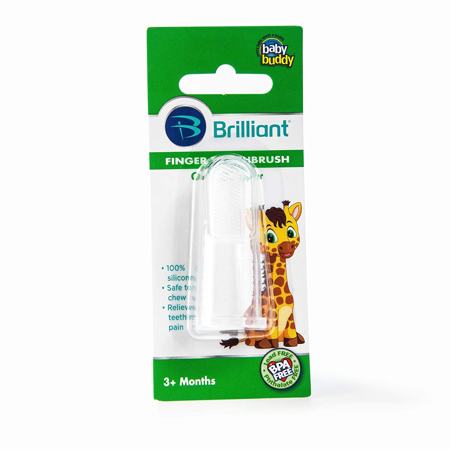 Baby Buddy Finger Toothbrush Stage 2 for Babies/Toddlers, Kids Love Them, Clear by Baby Buddy   B00BPZ9SJ8