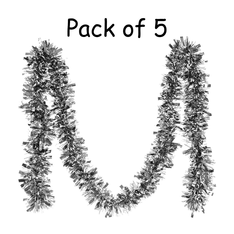 Ghirlanda Decorazione dell'albero di Natale, punte bianche - 2m, 5 pezzi (Verde) SQ Pro