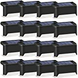 Solar Deck Lights 16 Pack LED Waterproof Solar Powered Outdoor Solar Lights for Step,Stairs , Fence Post ,Railing ,Yard ,Driv