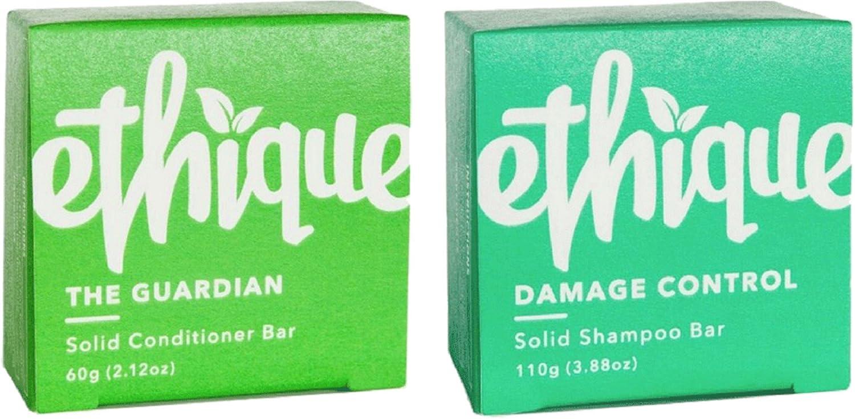 Ethique Solid Bars, Damage Control Shampoo + Guardian Conditioner 1 ea