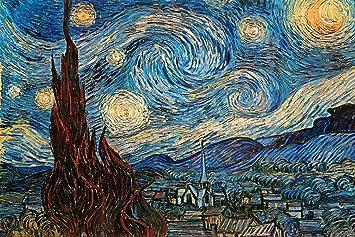 Póster Noche estrellada, c. 1889, de Vincent van Gogh, Tamaño ...