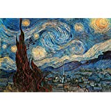 The Starry Night 1889 By Vincent Van Gogh Art Print Poster 36x24 inch