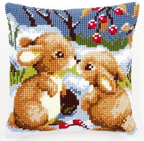 Amazon.com: Vervaco – Kit para cojín de conejos con nieve ...