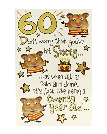 Amazon Hanson White Guinea Pig 60th Birthday Greeting Card