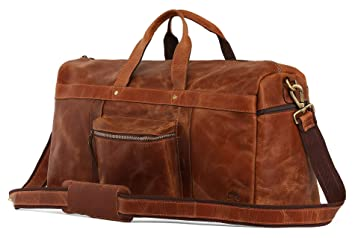 8629aff1f4 Image Unavailable. Image not available for. Color  Genuine Leather Handmade Duffel  Bag For Men