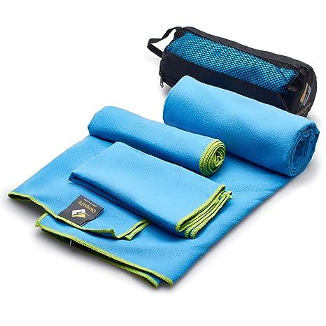 Toallas de 3 tamaños al precio de 1 – Super Pack – secado rápido · Super