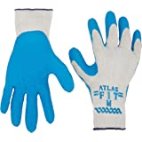 Atlas Fit 300 Size Medium Rubber Coated Glove 12 Pairs