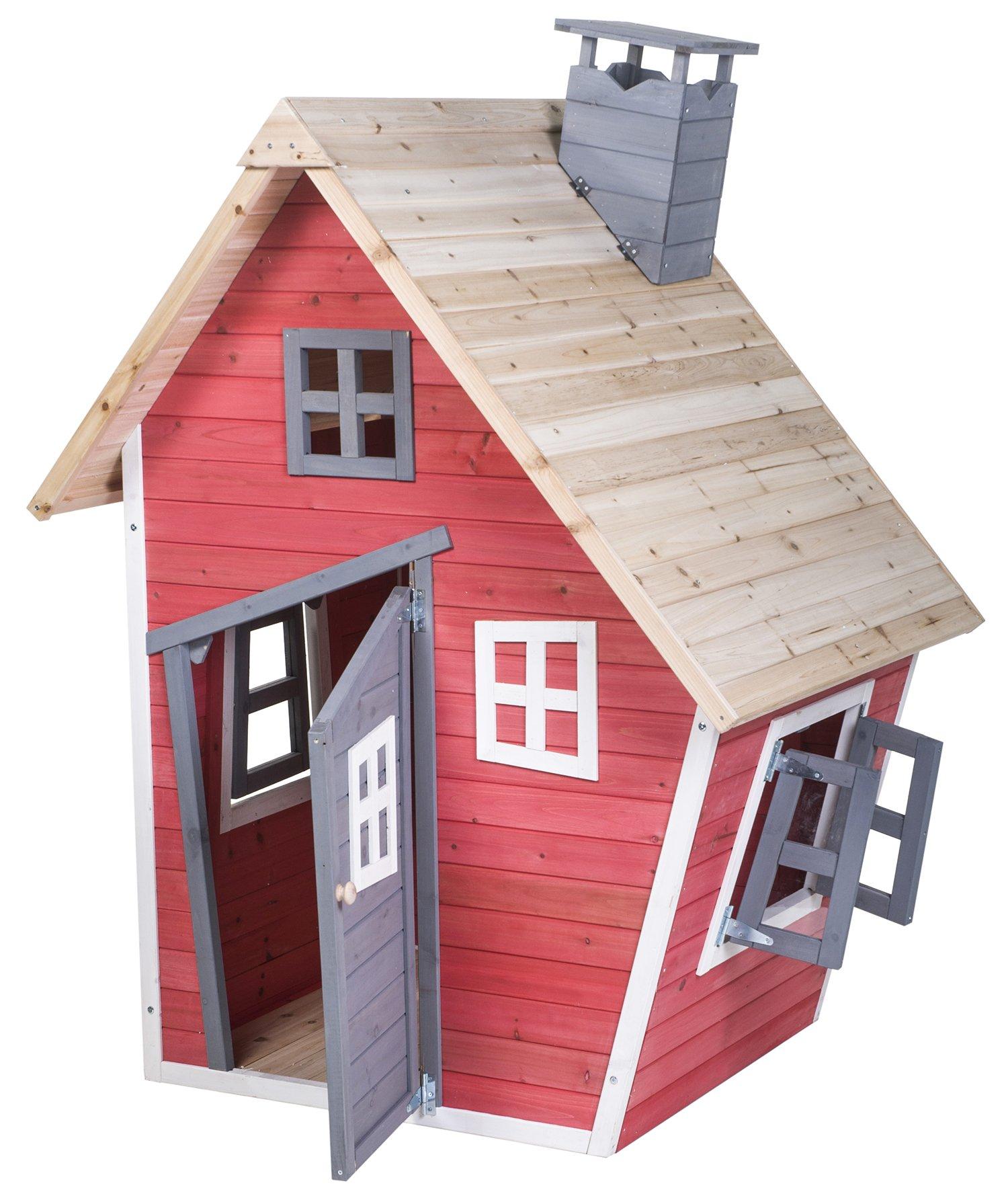 Merax® Children's Wood Playhouse Indoor Outdoor Backyard Environmental Friendly Paint