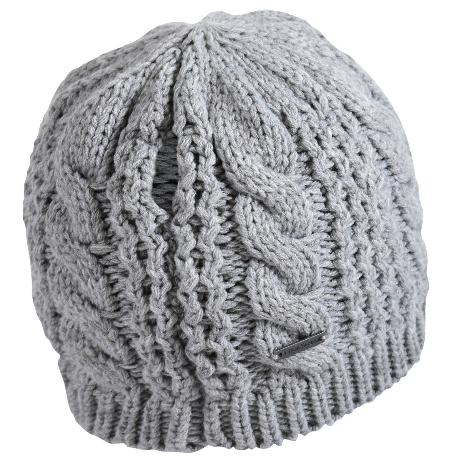 TrailHeads Women's Cable Knit Ponytail Beanie - storm grey by TrailHeads (Image #8)