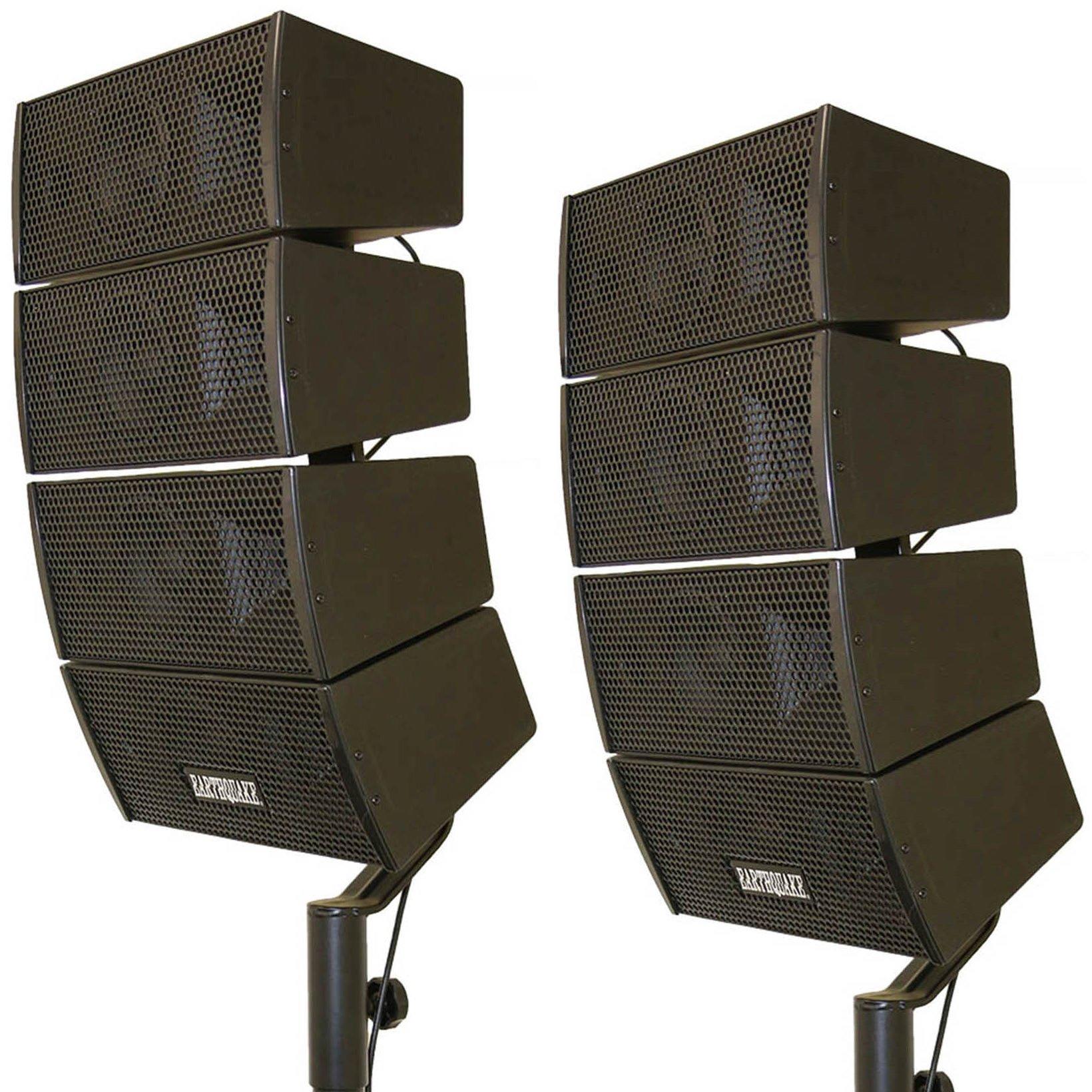 Earthquake Sound DJ-Quake 4x 4-inch Array Speakers, Set of 2 by Earthquake Sound