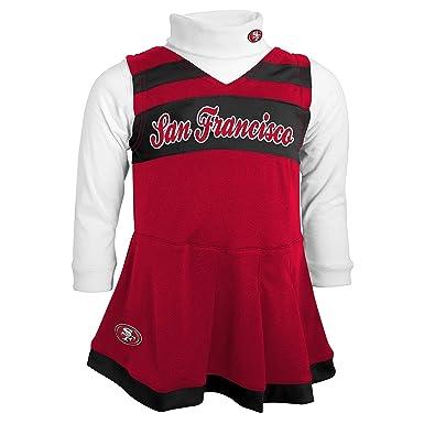 5a9d463f Amazon.com: San Francisco 49ers Red Black Kids Girls Cheer Jumper ...