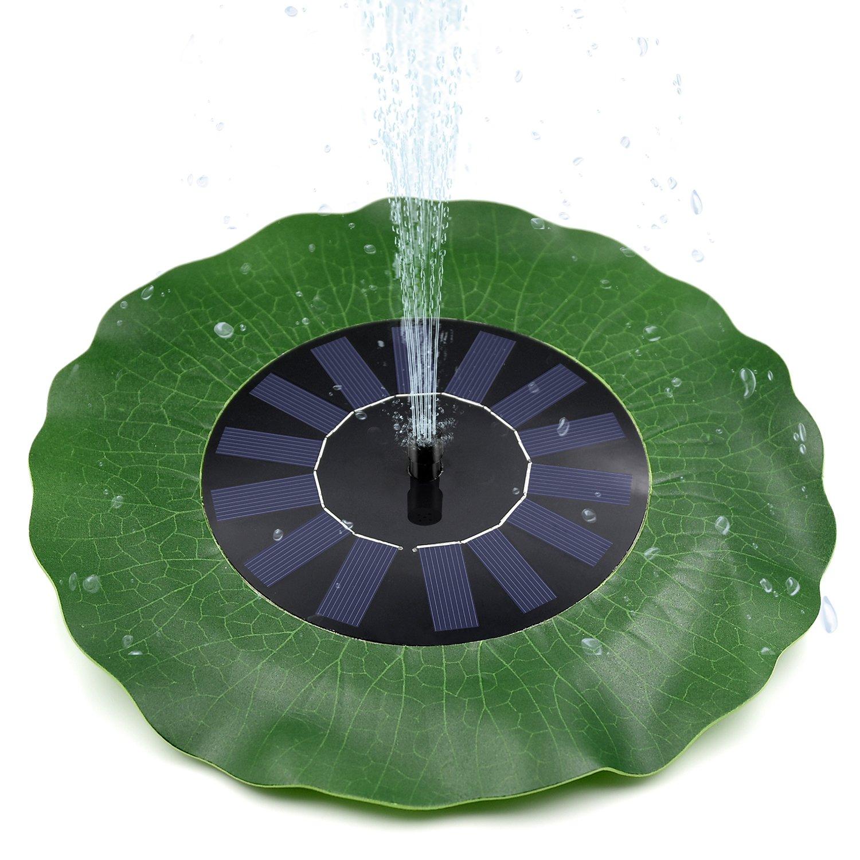 Ankway Solar Fountain for Birdbath Solar Fountain Pump Submersible Outdoor Solar Water Pump for Pond Bird Bath Yard Garden Aquarium 1.4W Green Lotus-Leaf Solar Powered Fountain Pump Kit