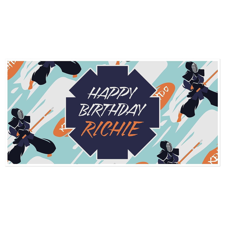 Amazon.com: Kung Fu Ninja Martial Arts Party Birthday Banner ...