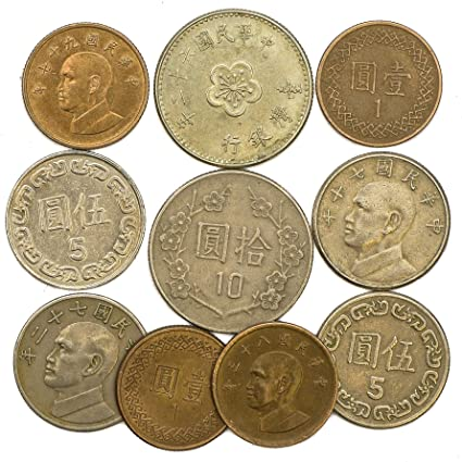 TAIWAN COINS FROM EAST ASIA ISLAND FORMOSA OLD COLLECTIBLE COINS LOT DOLLARS