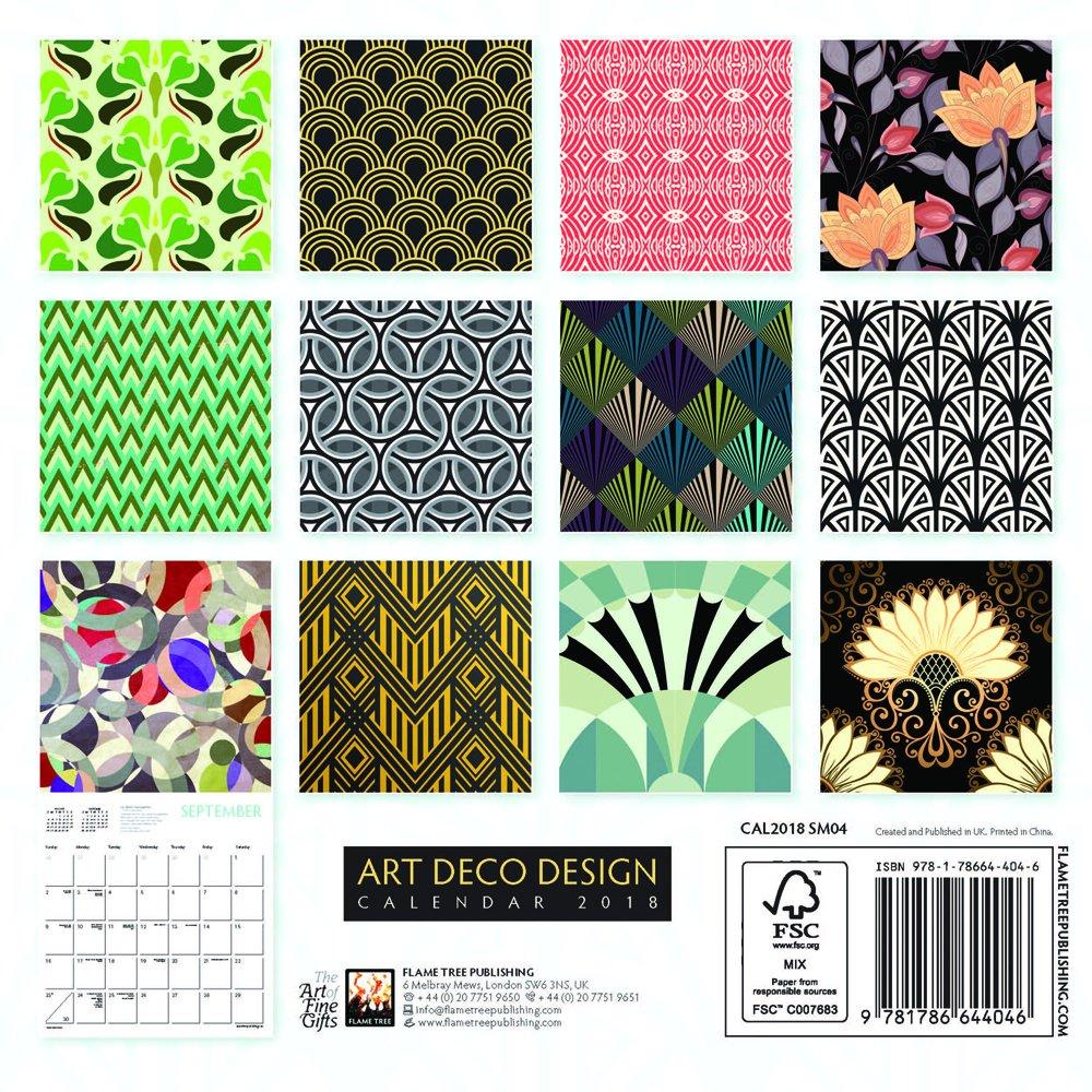 Art Deco Design - mini wall calendar 2018 (Art Calendar): Amazon.co.uk:  Flame Tree Publishing: 9781786644046: Books
