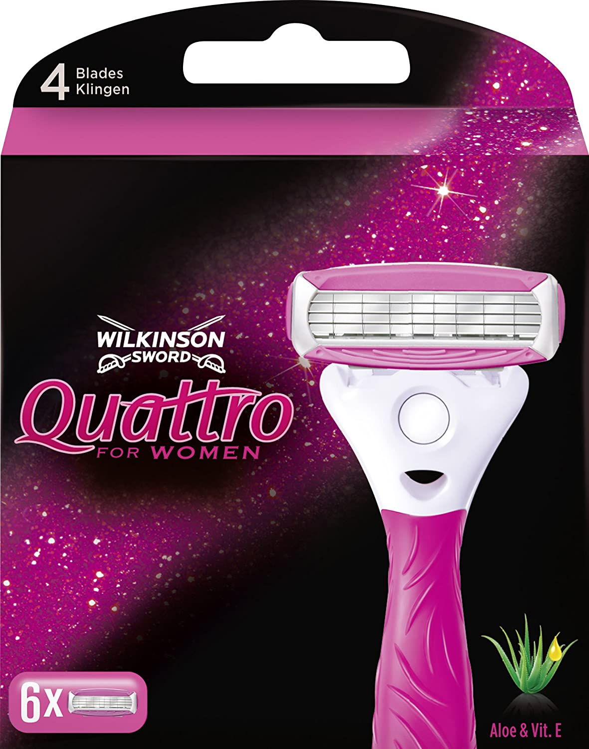 Wilkinson Sword Quattro Razor Blades for Women, Pack of 3 Edgewell 70011430