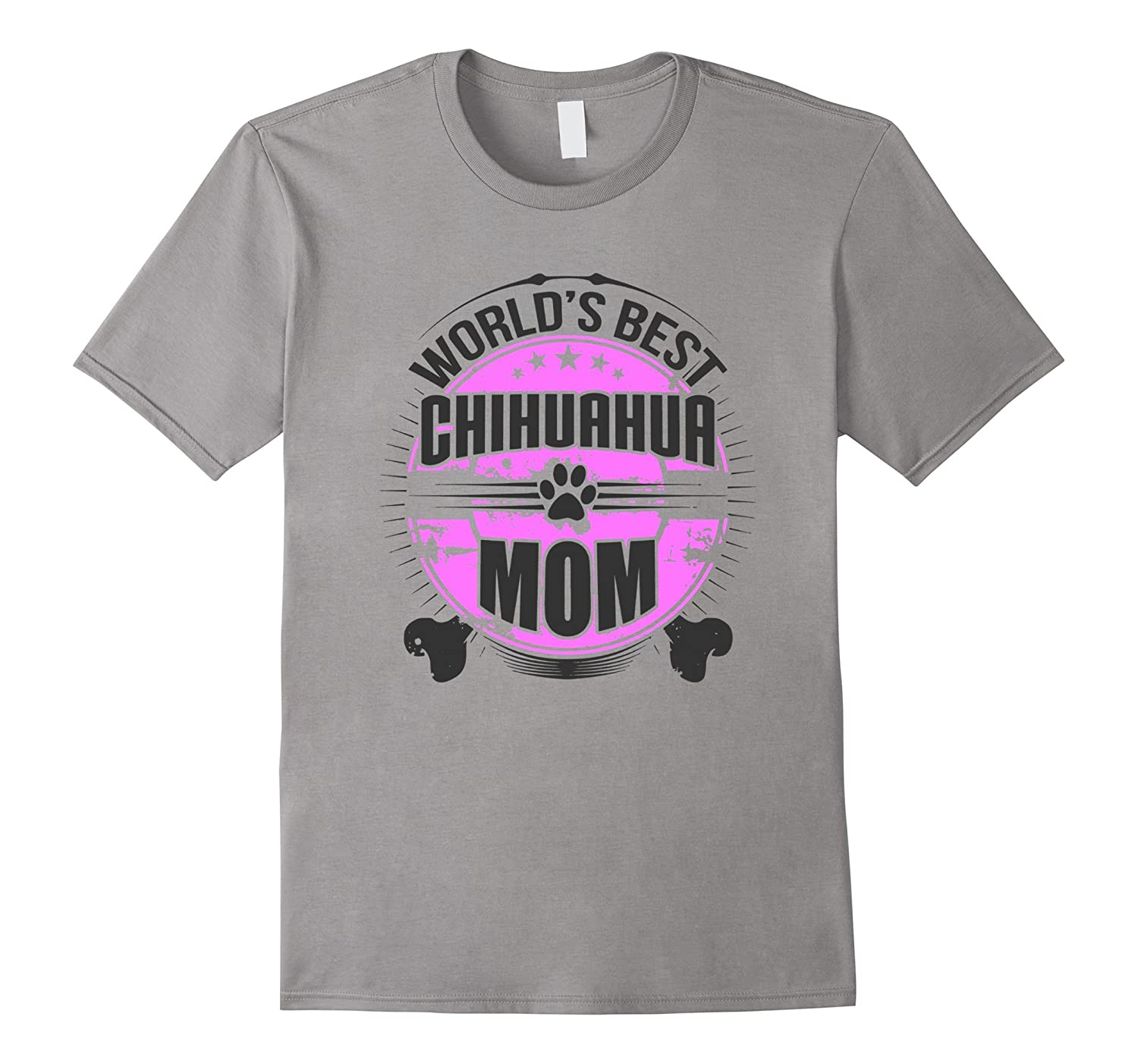 Worlds Best Chihuahua Mom Dog Owner T-Shirt-Art