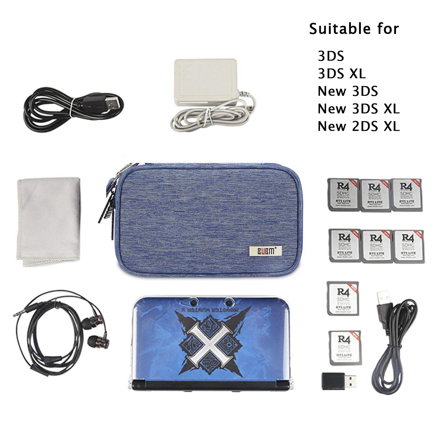 Amazon.com: BUBM 3DS/3DS XL/New 2DS XL - Maletín de ...