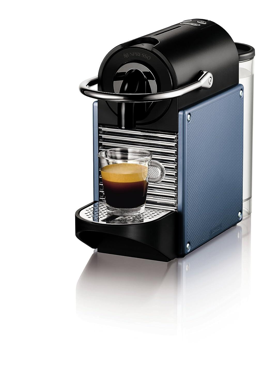 Nespresso Pixie Aluminium EN125A DeLonghi - Cafetera monodosis (19 bares, Apagado automático, Sistema calentamiento rápido), Color azul