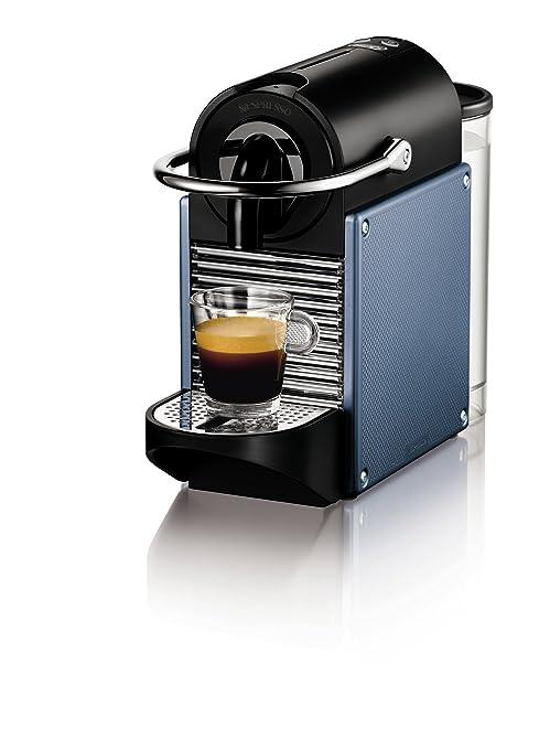 Nespresso Pixie Aluminium EN125A DeLonghi - Cafetera monodosis (19 bares, Apagado automático, Sistema