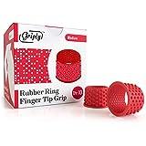 Griply Rubber Finger Tips   Hand Grips   Rubber Tip Finger Protector   Finger Pads (Medium)