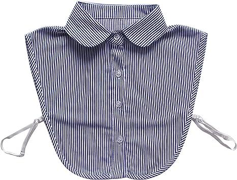 Beetest Hombres Mujeres Striping Falso Media Camisa Camisa Desmontable blusón Cuello Acentuado con Busto elástico: Amazon.es: Deportes y aire libre