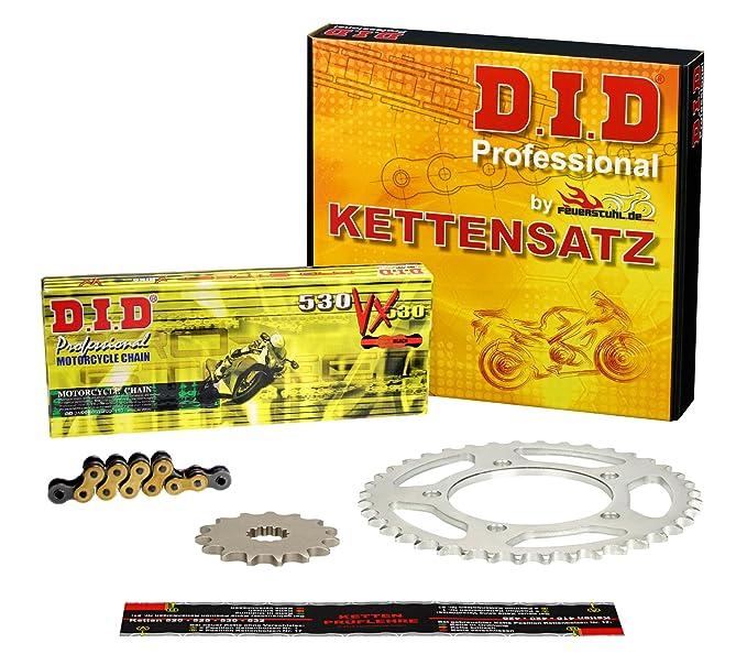 Kettensatz f/ür Honda VT 600 C Shadow 1989-2000 DID X-Ring extra verst/ärkt gold