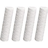 Juego de 4 cartuchos de filtro de 25,4 cm, sedimento enrollado 1 µ, filtro grueso de alambre envuelto en ósmosis inversa…