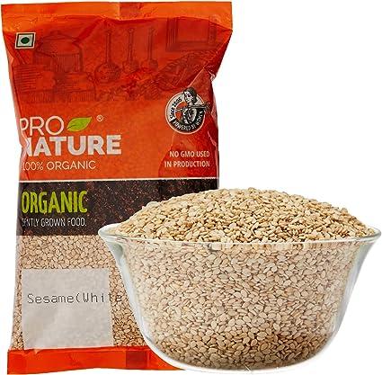 Pro Nature 100% Organic Sesame (White, Natural) 200g
