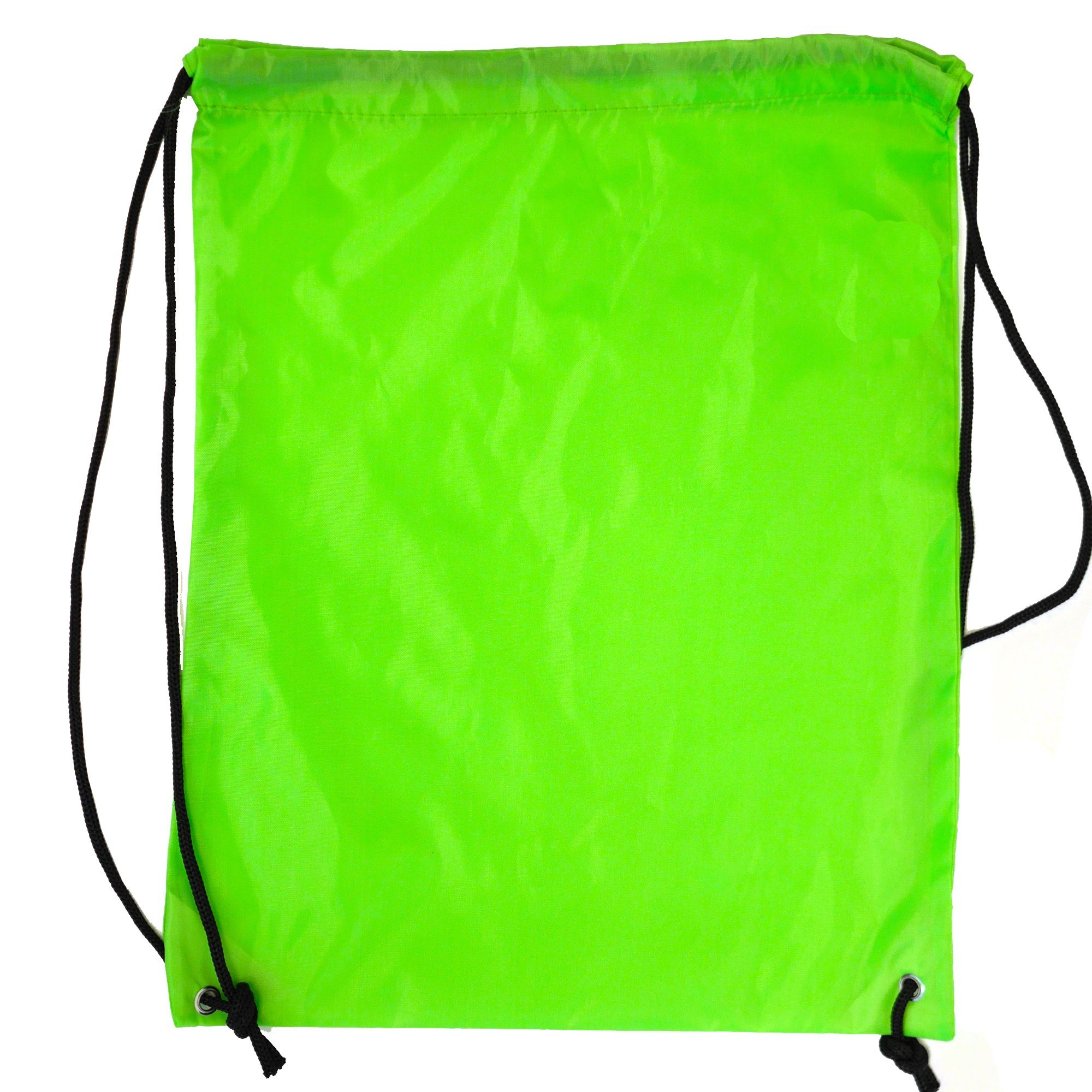 200-Pack 210D POLYESTER Drawstring Backpack, Gym Sports, Outdoor Backpack, Camping and Hiking Bags (1 BOX (200 Pack), Lime Green)