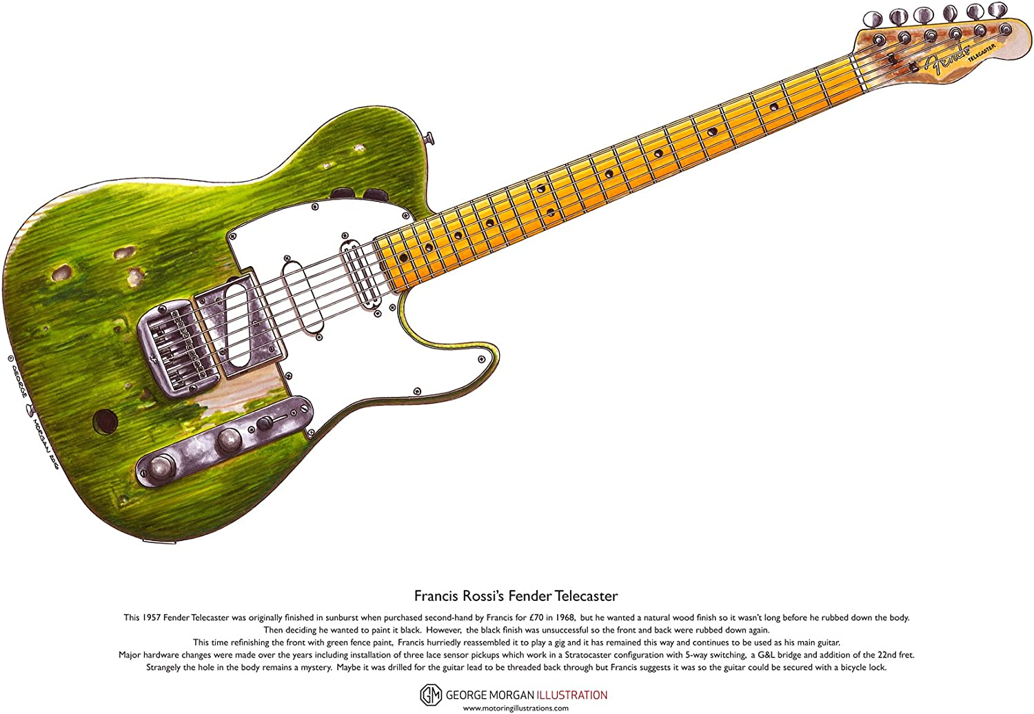 George Morgan Illustration Guitarra Fender Telecaster de Francis ...