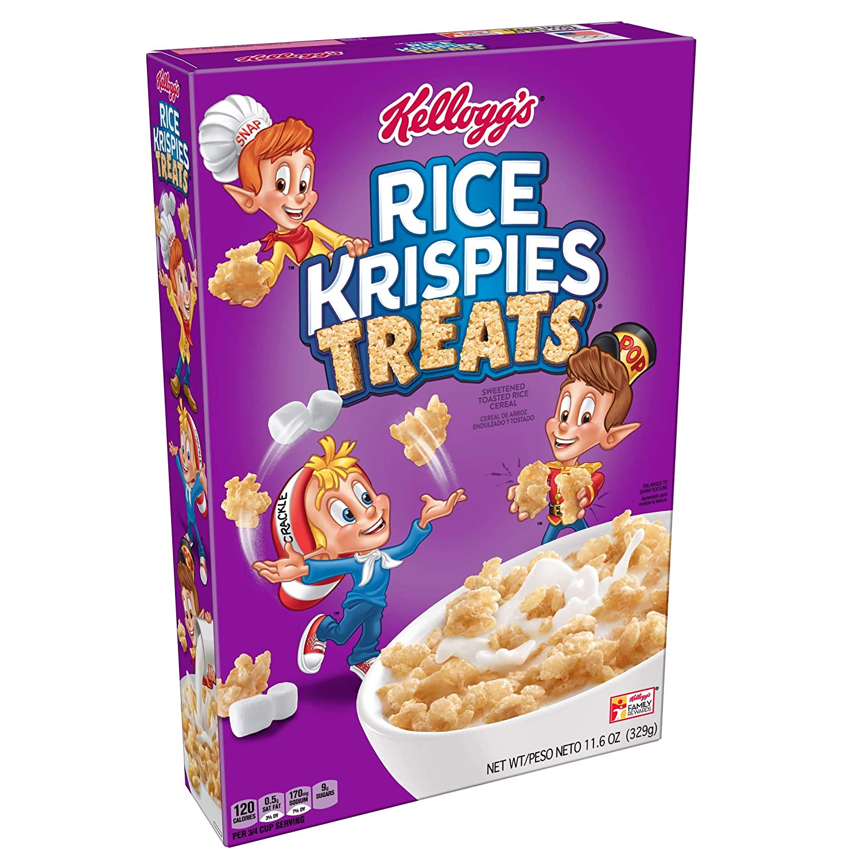(Discontinued Version) Rice Krispies Treats, Breakfast Cereal, 11.6 oz Box