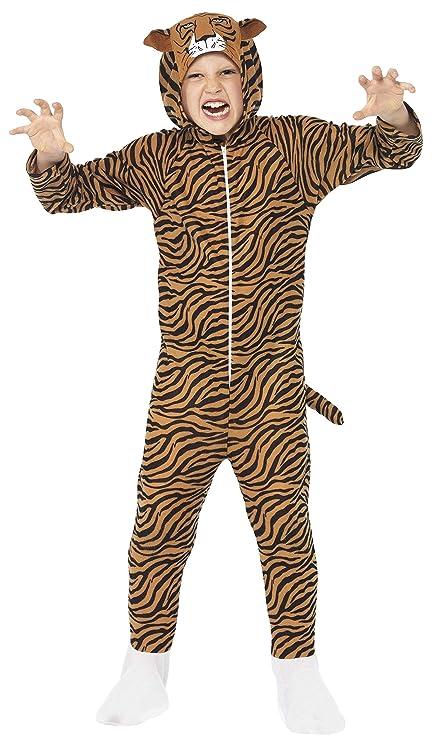 SmiffyS 27991S Traje Tigre Con Capucha, Marrón, S - Edad 4-6 Años
