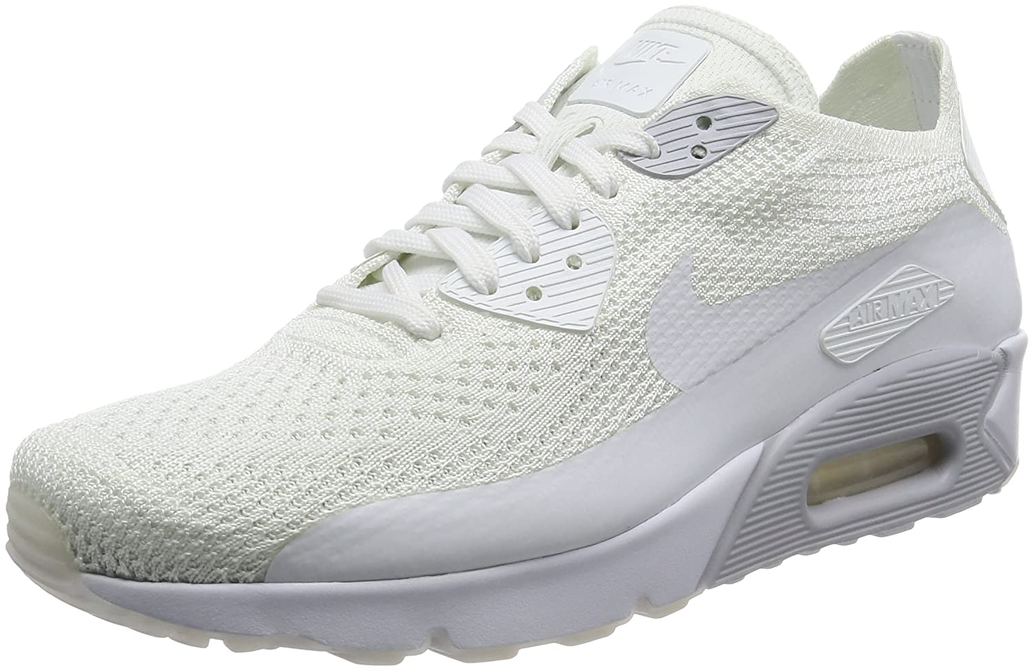 a6668d8498 Amazon.com | Nike AIR MAX 90 Ultra 2.0 Flyknit White Pure Platinum Mens  Running 875943 101 | Road Running