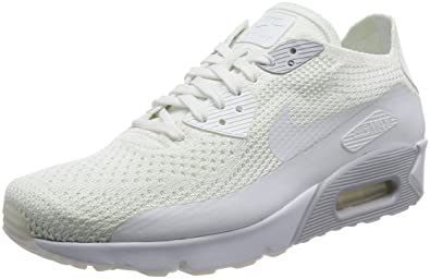 Nike AIR MAX 90 Ultra 2.0 Flyknit White Pure Platinum Mens Running 875943 101